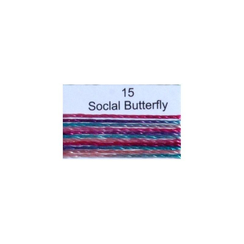 WonderFil garen Razzle Social Butterfly 15 50 yard