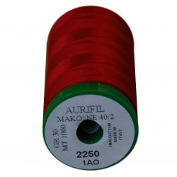 Aurifil garen rood 1000 meter 2250