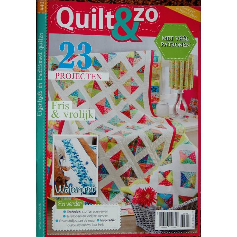 Tijdschrift Quilt&Zo
