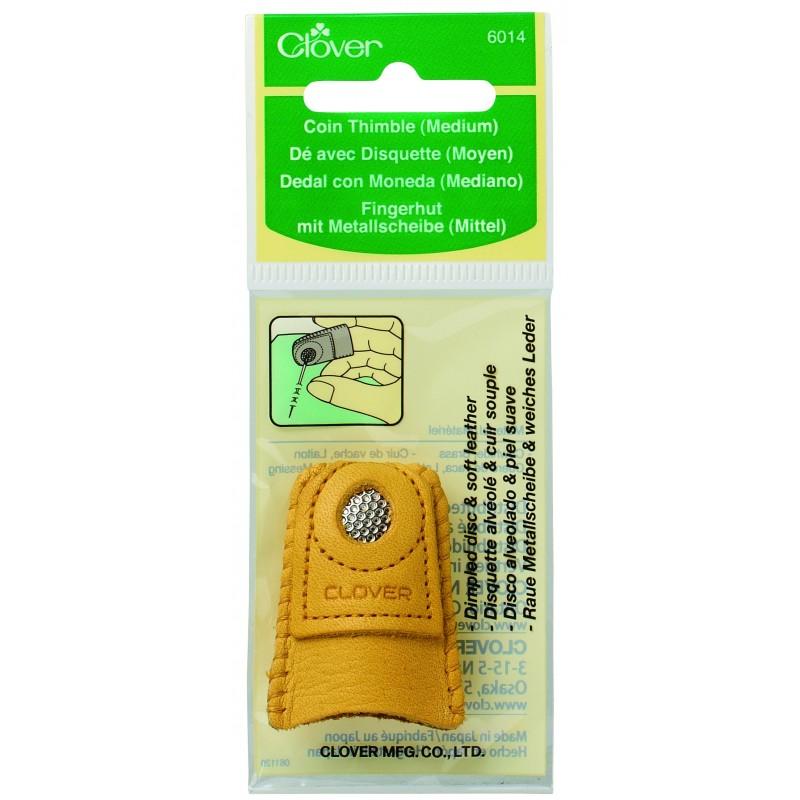 Clover leren vingerhoed medium 2086014