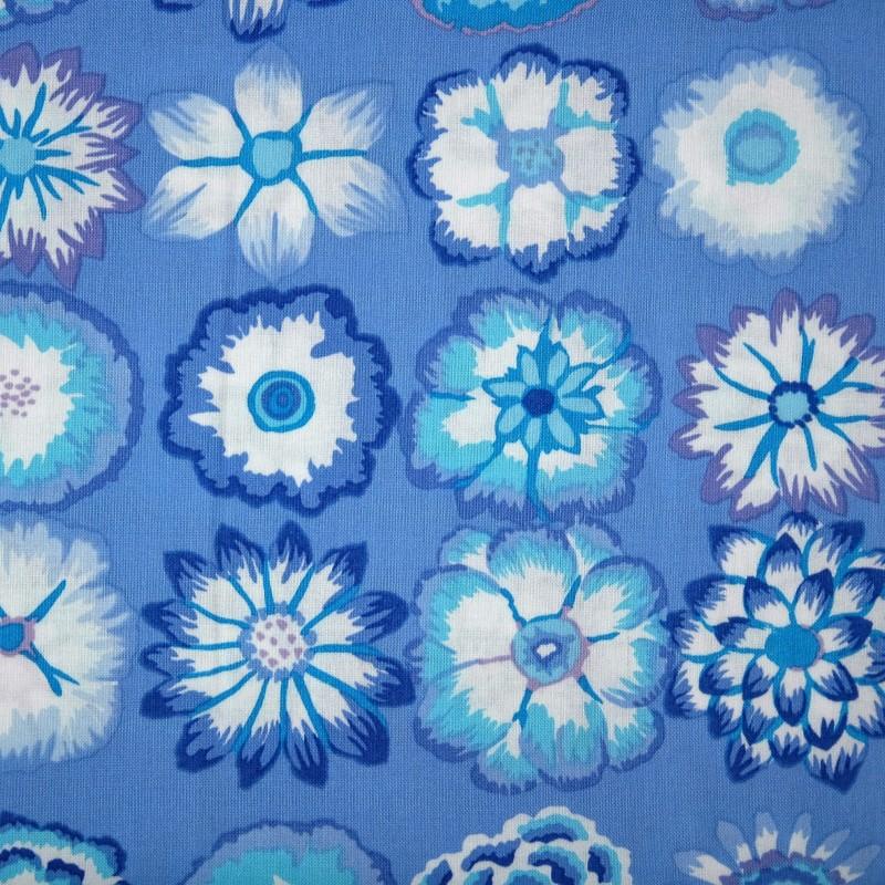 Button flowers blue PWGP152.bluex