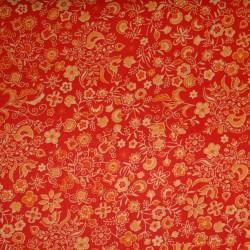 Cotton Print 3206 bloem oranje