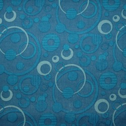 Cotton Print 3101 cirkel blauw