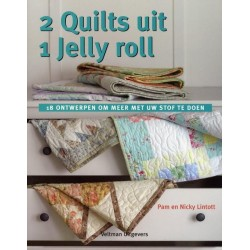 Boek 2 quilts uit 1 jelly roll