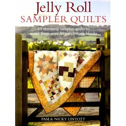 Boek jelly roll sampler quilts