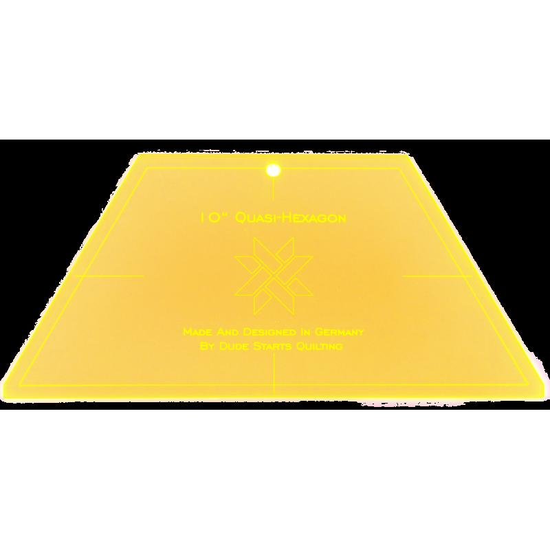 "10"" Quasi hexagon lineaal"