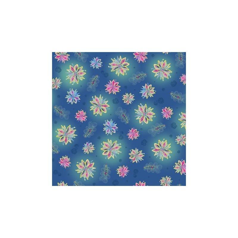 Enchanted Floral Tossed Floral Blue 60 4112
