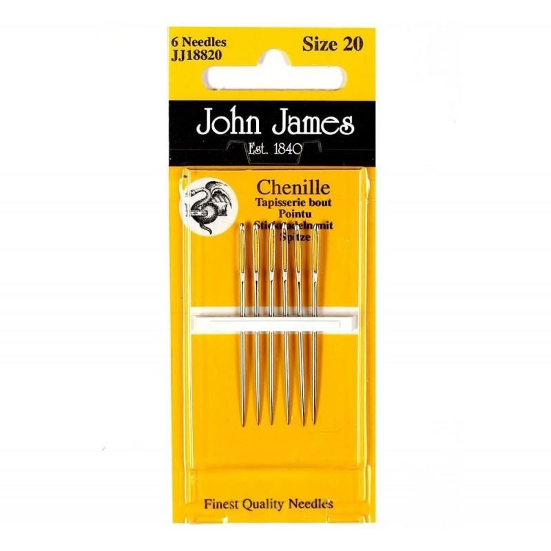 John James borduurnaald Chenille nummer 20 met punt 18820