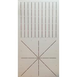 """10""""x20"""" Line Design quiltsjabloon SCL-457-10"""