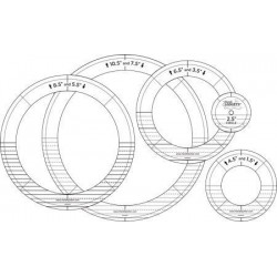HQ Silver Ring Ruler Set HG00625