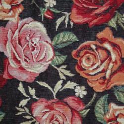 Gobelin zwarte rozen