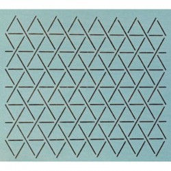 "1"" Hexie Grid quiltsjabloon SCL-608-09"