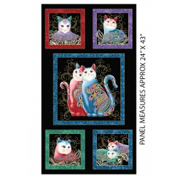 Cat-I-tude 2 PurrFectTogether Panel Black/Multi 7550M-12