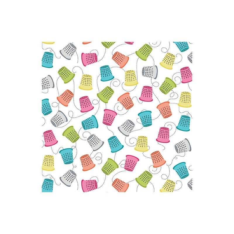 My Happy Place Thimbles White 7597-09