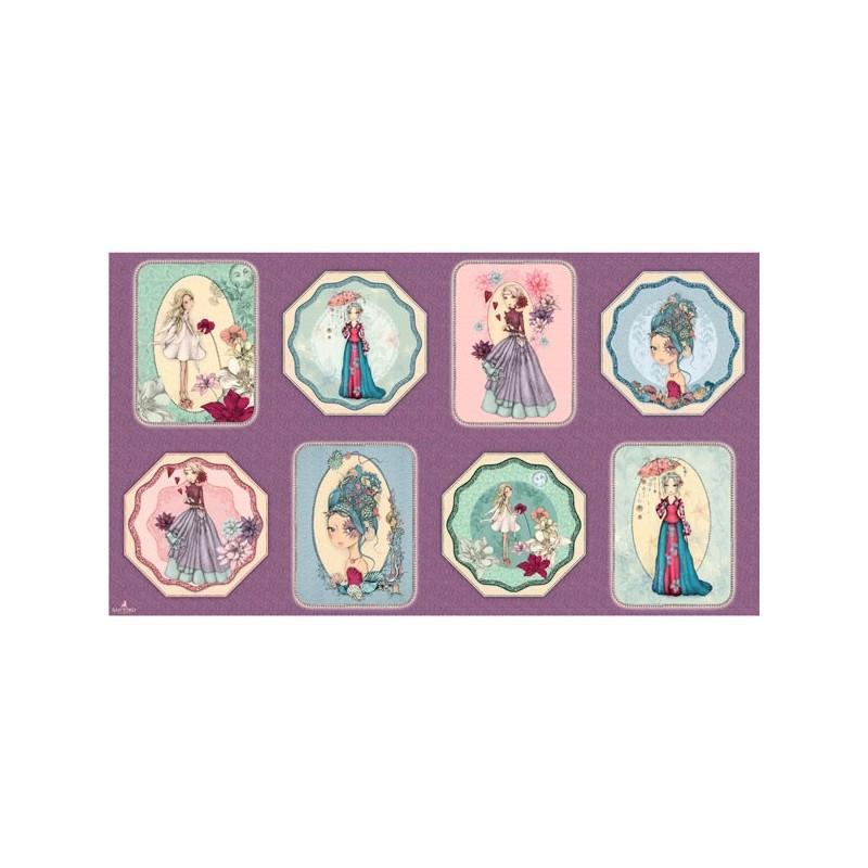 Midnight Garden Panel MIDNIGHT GARDEN PATCHES 26941-V