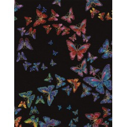 Nature Outdoors Allover Butterflies CM2406 Tiffany Black