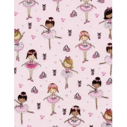 Novelty Juvenile Glitter Ballerinas CM3817 Fun Pink