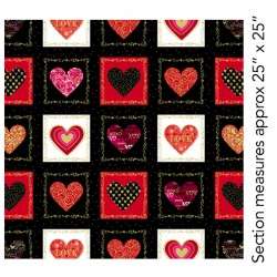 Cherish Decorative Heart Boxes Black 8958M-12