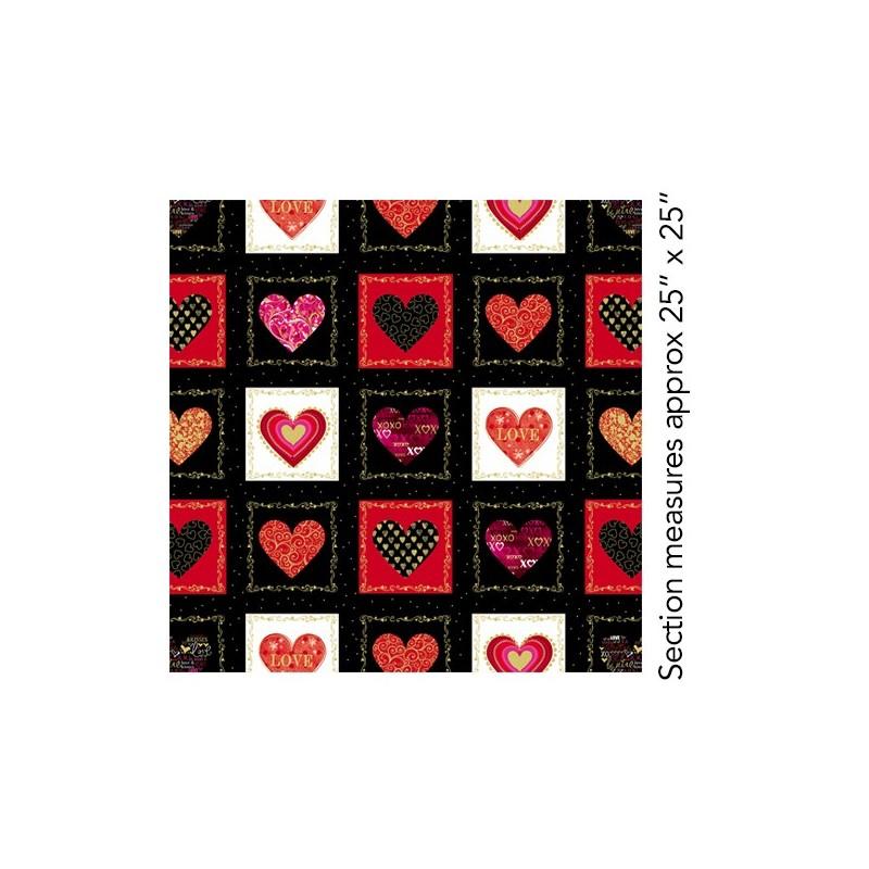 Cherish Decorative Heart Boxes Black 8958M-12