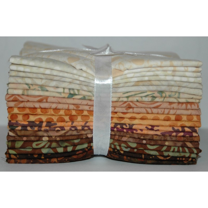 Fat Quarter bundel Bali Batiks Originale sand