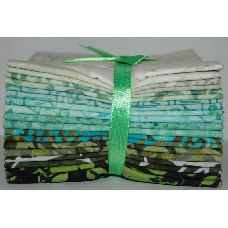 Fat Quarter bundel Bali Batiks Originale grass