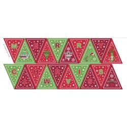 Christmas Glow Panel Glow green/red bunting C52.3