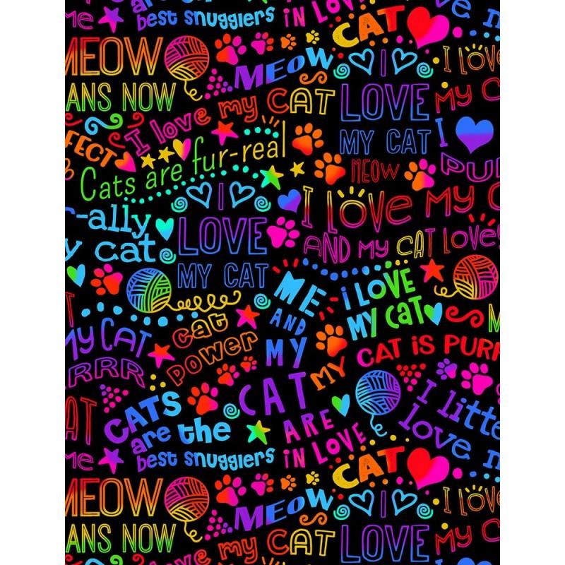 Gail I Love My Cat Rainbow Outline C7038 Bright