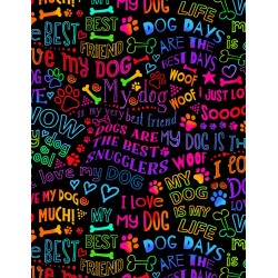 Gail Dog Best Friend Rainbow Writing C7032 Bright