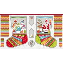 Festive Stocking Panel 2107-1