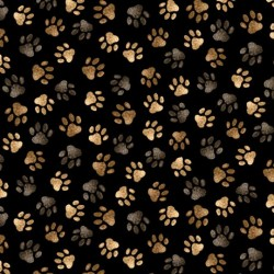 Loyal Lovable Labs Paw Prints 27289-J Black