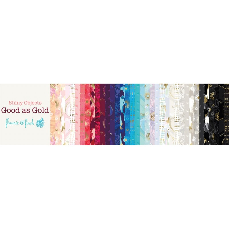 Shiny Objects Good as Gold Charm Pack FF500P-5x5